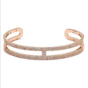 Fashion roses gold crystal open bracelet